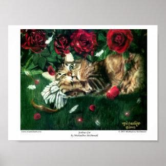 Eifersüchtiges Katzen-Plakat Poster