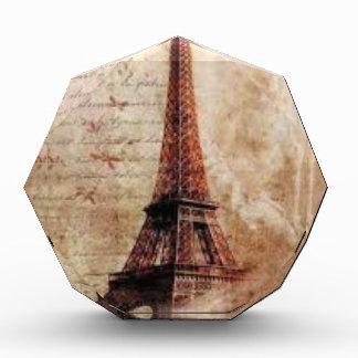 Eiffel Tower Vintage Paris Acryl Auszeichnung