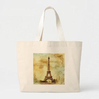 Eiffel Tower Vintage Paris Jumbo Stoffbeutel