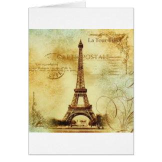 Eiffel Tower Vintage Paris Karte