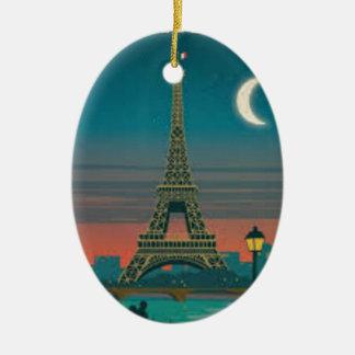 Eiffel Tower Vintage Paris Keramik Ornament