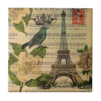 Eiffel Tower Vintage Paris Keramikfliese