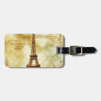 Eiffel Tower Vintage Paris Kofferanhänger