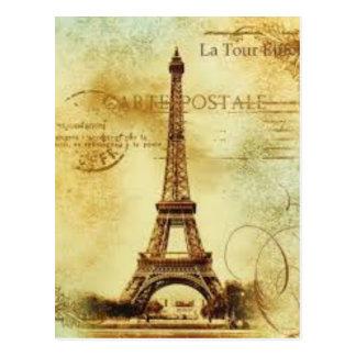 Eiffel Tower Vintage Paris Postkarte