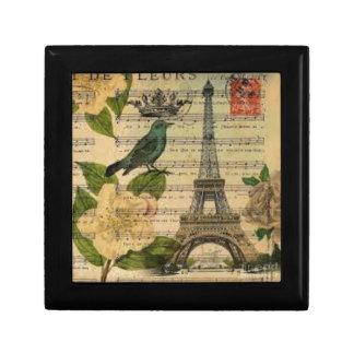 Eiffel Tower Vintage Paris Schmuckschachtel
