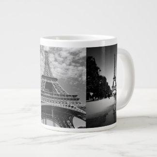 Eiffel-Turm-Ansichten in riesige Jumbo-Tasse