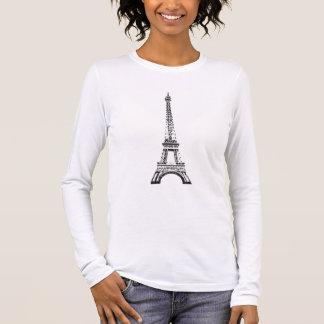 Eiffel-Turm, Damen Sleeved lang angepasste T Langarm T-Shirt