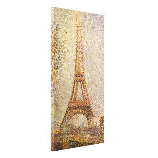 Eiffel-Turm durch Georges Seurat, Vintage feine Leinwanddruck