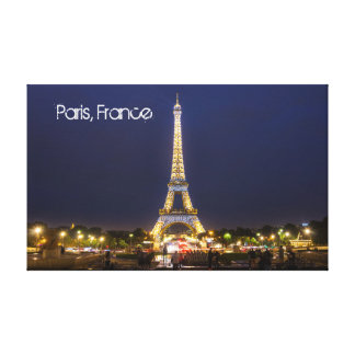 Eiffel-Turm, Paris an der NachtLeinwand Leinwanddruck