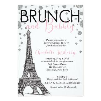 Eiffel-Turm-Paris-Brautpartybrunch-Einladung Karte