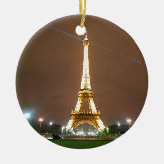 Eiffel-Turm Paris Frankreich - Frühjahr-Abend Keramik Ornament