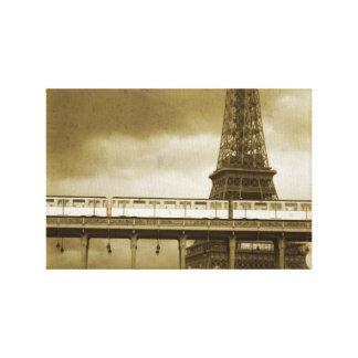 Eiffel-Turm Vintag Leinwanddruck