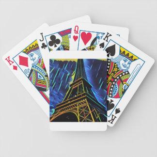 Eiffelturm-Blau Bicycle Spielkarten