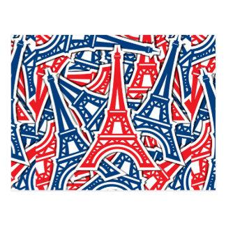 Eiffelturm, Frankreich-Muster Postkarte