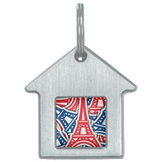 Eiffelturm, Frankreich-Muster Tiermarke