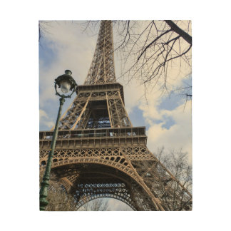 Eiffelturm im Frühjahr Holzleinwand