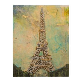 Eiffelturm in den gemischten Medien Holzdrucke