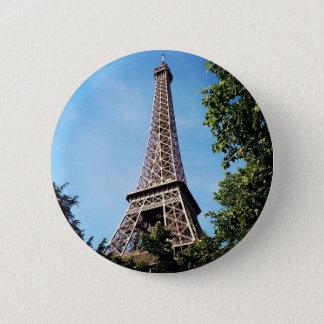 Eiffelturm-Knopf Runder Button 5,7 Cm