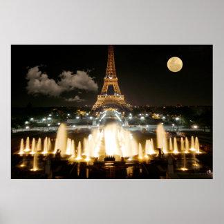 Eiffelturm nachts poster