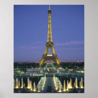 Eiffelturm, Paris, Frankreich 2 Poster
