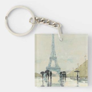 Eiffelturm   Paris im Regen Schlüsselanhänger