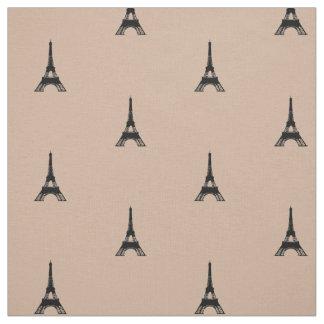 Eiffelturm TAN und Schwarzes Stoff