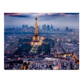Eiffelturmpostkarte Postkarte