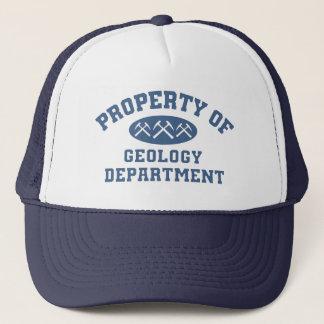 Eigentum der Geologie-Abteilung Truckerkappe