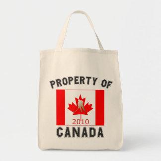Eigentum des kanadischen Hockey-Spielers Kanadas Tragetasche