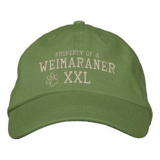 Eigentum eines Weimaraner gestickten Hutes Bestickte Kappe