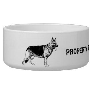 Eigentum meiner Schäferhundeschüssel Napf