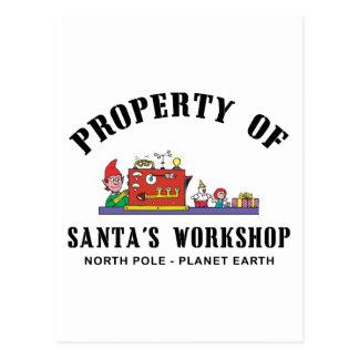 Eigentum Sankt des Werkstatt-Geschenks Postkarte