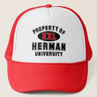 Eigentum von Herman-Universität Truckerkappe