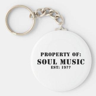 Eigentum von Soul-Musik Schlüsselanhänger