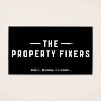 Eigentums-Fixiermittel-schwarze Visitenkarte