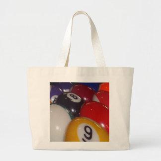 Eightball die traditionellen Farben, Jumbo Stoffbeutel