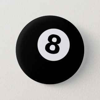 eightball runder button 5,1 cm