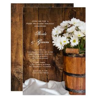 Eimer Gänseblümchen-Land-Posten-Hochzeits-Brunch 12,7 X 17,8 Cm Einladungskarte