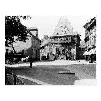 Ein altes Hotel im Rathausplatz, Goslar, c.1910 Postkarte