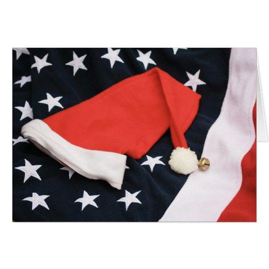 Ein amerikanischer Weihnachtsgruß Mitteilungskarte