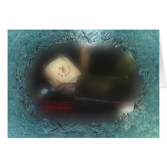 Ein anderer blauer S'Mores Schlafsack Grußkarte