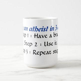 Ein Atheist in 3 einfachen Schritten werden Kaffeetasse