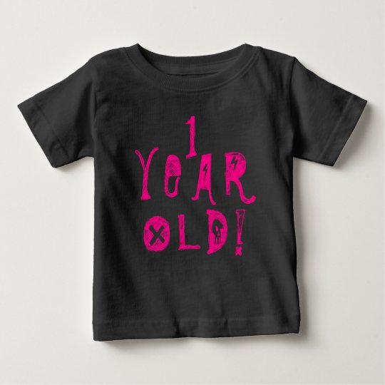 Ein Babyschädel-Felsenrosa des jährigen Baby T-shirt