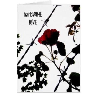 ein barbWIRE.Rose Grußkarte