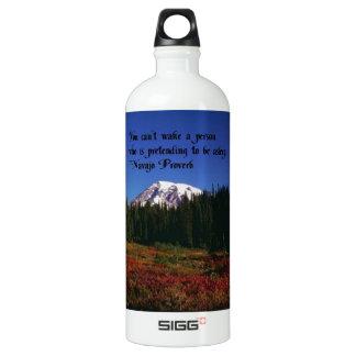 Ein berühmtes Navajo-Zitat Wasserflasche