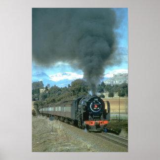 Ein Bethlehem zu Bloemfontein-Zug nähert sich Poster