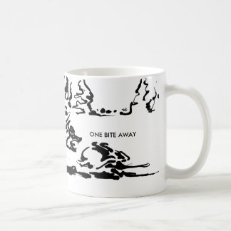Ein Biss weg Kaffeetasse