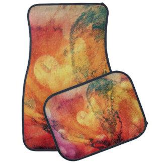 Ein Blatt in der hölzernen Herbst-Kunst abstrakt Autofußmatte