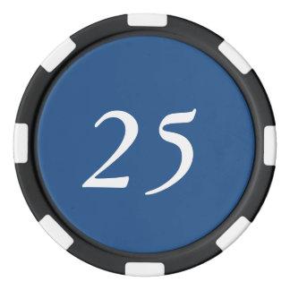 Ein Blau Poker Chip Sets