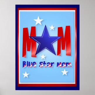 Ein blauer Stern-Mamma-mit Buchstaben Poster